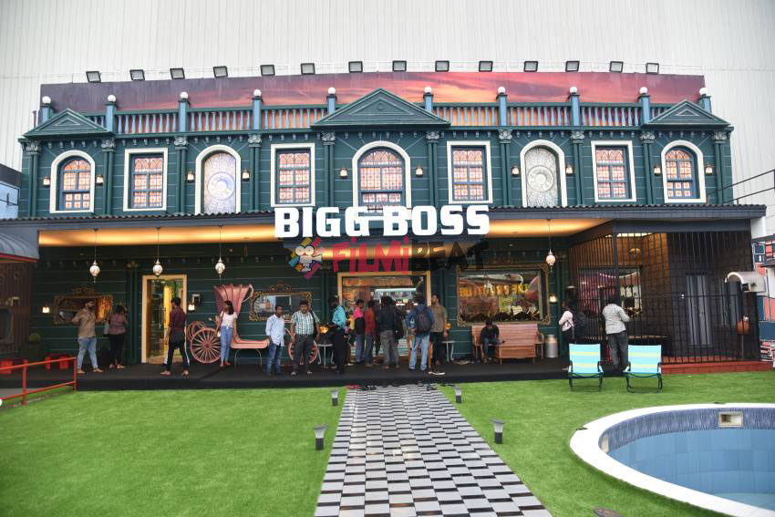 bigg boss Malayalam season 2 house entrance with logo