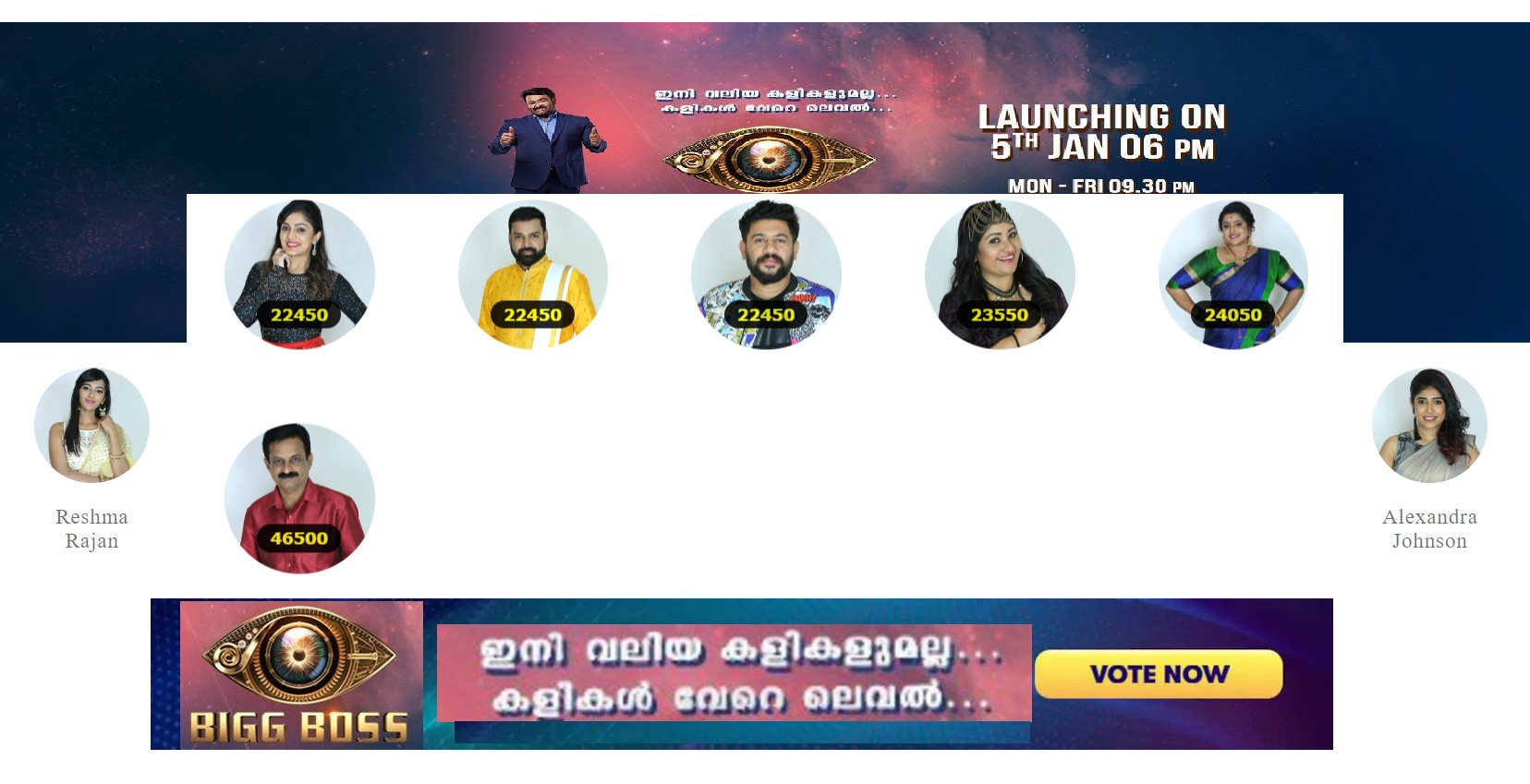 bigg boss malayalam vote latest nominations week 2